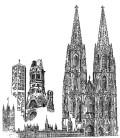 Zeichnung Köln-Berlin-London (C) Ulrich Zuber